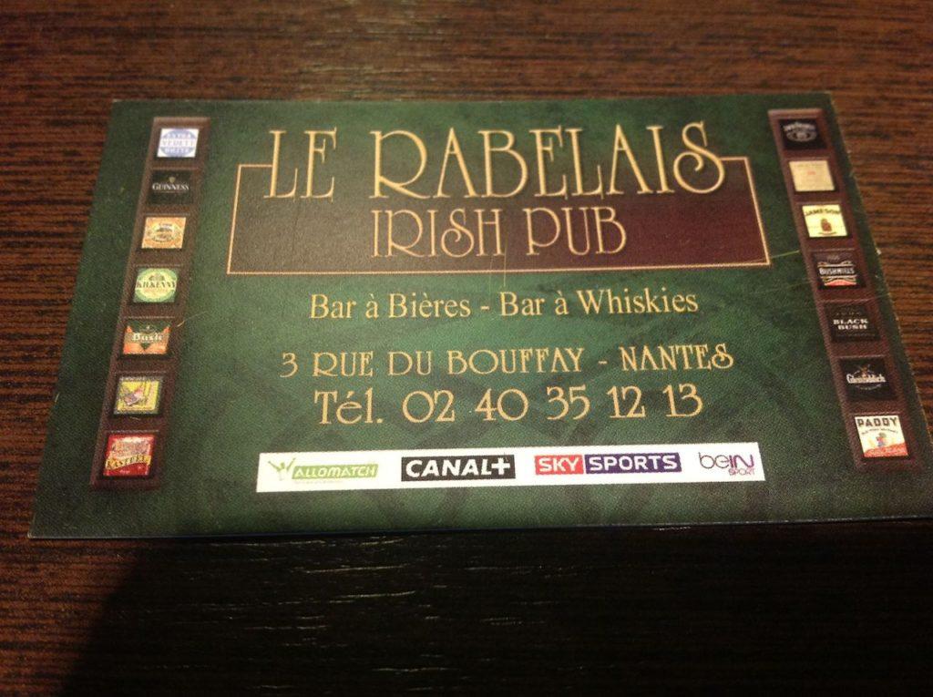 Le Rabelais, Irish Pub à Nantes